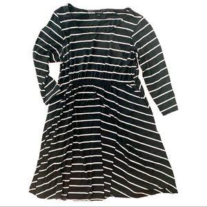 Torrid Skater Dress Black/White Stripes Size 2